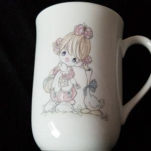 Precious Moments Girl clown w/duck friend mug